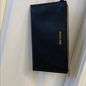 Michael Kors Black Pebbled Leather Clutch/ Wallet